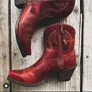 Ariat red booties
